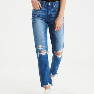 American Eagle Button Fly Distressed Jeans